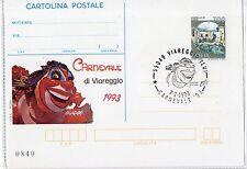 1993 ITALY REPUBBLICA IPZS CARTOLINA POSTALE CARNEVALE DI VIAREGGIO FDC B/6647