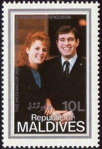 /MALDIVES IS. 1986 Royal wedding 10L sgl. MNH @RM125