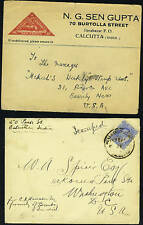 """INDIA 1900's TWO """"CALCUTTA"""" COVERS K. EDWARD FRANKING"""