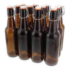 Amber Glass Flip Top Beer Bottles Brand New 500ml Box of 12 Home Brew