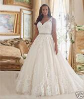 Elegant Lace Wedding Dresses Formal Bridal Wedding Gowns Custom Plus Size