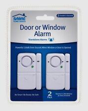 SABRE DOOR & WINDOW ALARM 2pk Sliding Patio Basement Garage Car Home Safety LOUD
