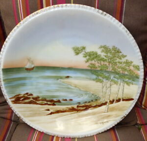 Sailing at Sunset Horizon Wall Plate Heinrich  H & G Germany Hand Painted