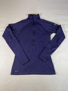 Nike Size Medium Women Dri-Fit Hyperwarm Half ZIP Long Sleeve Thermal Top