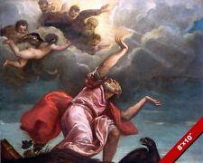 JOHN THE REVELATOR ON ISLE OF PATMOS REVELATIONS PAINTING BIBLE ART CANVAS PRINT