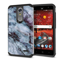 Marble Hybrid Hard Rubber Case Cover For ZTE Grand X 4 Z956/ X4 Z957/ Damon