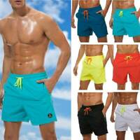 Men's Quick Dry Beach Waterproof Drawstring Shorts Suit Swim Trunks with Pockets