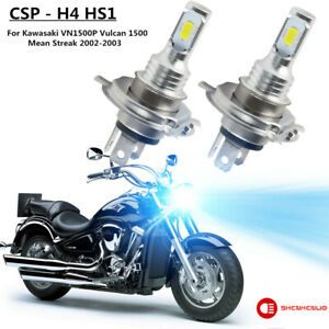 8000K For Kawasaki VN1500P Vulcan 1500 Mean Streak 2002-2003 LED Headlight Bulbs