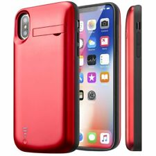 iPhone X Battery Case Support Lightning Headphone Charging Cover Power Bank-Red