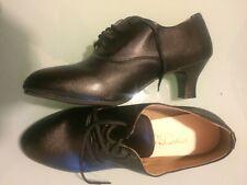Black Trainer Latin Dance Ballroom Shoes, Size 41
