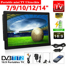 "7''/9''/10''/12''/14"" Portable Digital TV Television 1080P Video 12V LED/USB/AV"
