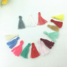 100X Mini Mixed color cotton tassel Handmade weave DIY jewelry accessories 15mm