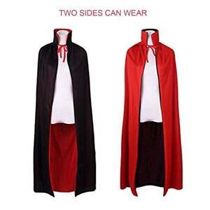Halloween Vampire Bloodsucker Unisex Two-Sided Cape Cloak Party Costume Dress