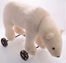 Steiff bears*Polar  Bear on Wheels 1910 Limited Edition 43cm*Ean400544