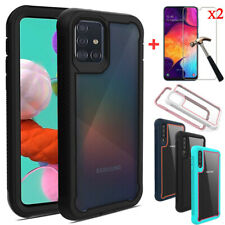 For Samsung Galaxy A10e A20 A20s A50 A51 Shockproof Case Cover + Tempered Glass