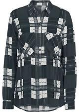 BODYFLIRT - Damen Legere Hemdbluse Top Bluse schwarz/weiß kariert Größe 36 NEU