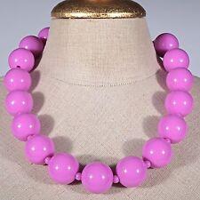 Kette Collier große Kugel Perlen Kunststoff Modeschmuck pink fuchsia Kugelkette