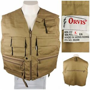 Orvis Mens Large Vest Lightweight Super Tac-L-Pak Fly Fishing Field Vintage 80s