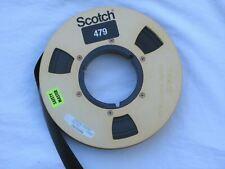 "3M Scotch Vtg 479 Broadcast 1"" Video Tape Heavy Duty Aluminum Reel to Reel Metal"