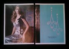 Tiffany & Co 2 Page Magazine Print Ad 2013 Diamond Earrings