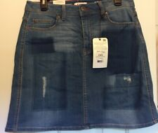 Women's EV1 Relaxed Vintage Denim Stretch Pencil Skirt Size 10 New With Tags