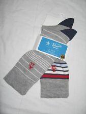 BNWT ORIGINAL PENGUIN Striped Socks   Grey   2 Pairs