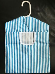 Hanging Fabric Peg Bag Clothes Line Laundry Washing Basket Storage Pouch Hanger