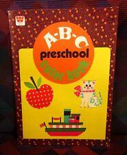ABC Preschool beat-up coloring book 1978 alphabet Whitman