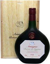 Rarität: Armagnac Baron de Cygnac 0,7l Jahrgang 1966 + Holzkiste