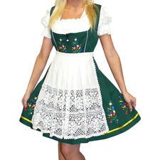 Sz 26 German DIRNDL Dress Oktoberfest Women EMBROIDERED Green 3 pc Set STUNNING