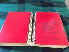 Red Wing, Minnesota church huge red paperback spiral 1977 illus. 1200 recipes
