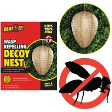 WASP REPELLING DECOY NEST Natural Paper Insect Pest Repellent Hornet Bee Fake