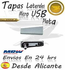 Tapa cubierta lateral micro USB para Sony Xperia Z1 L39h PLATA C6902 C6903