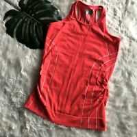 ATHLETA Finish Fast Racerback Stretch Ruched Tank Top Size Small
