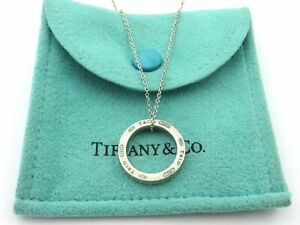 TIFFANY & CO Sterling Silver 1837 Circle Pendant Necklace