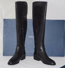 NIB Authentic $395 COLE HAAN VALENCIA OTK Black Leather Boot II Size 9 B