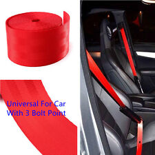 Red Harness Racing Front 3 Point Safety Retractable Van Car Truck Seat Lap Belts
