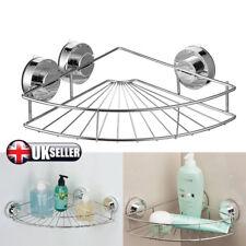 Bathroom Suction Cup Shelf Shower Corner Storage Caddy Holder Rack Organizer UK