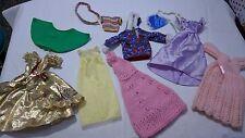 job lot bundle of vintage sindy  / barbie doll clothes TLC lot 9