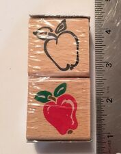 Wood Rubber Stamp Set SCHOOL TEACHER CLASSROOM APPLE  Scrapbook Craft