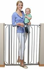 NO TAX! Regalo Deluxe Easy Step Extra Tall Walk Thru Baby Safety Gate Platinum