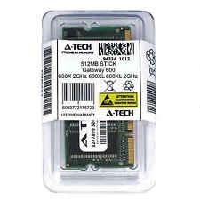 512MB SODIMM Gateway 600X 2GHz 600XL 600XL 2GHz 600YG2 600YGR Ram Memory