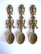 Les plus anciens gelbguss bronze laiton Indio MAYA INCA Cuillère