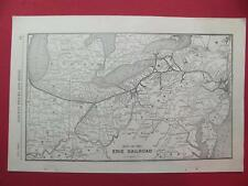 1920 ERIE RAILROAD SYSTEM MAP DEPOT LOCATION 97 YEAR OLD