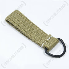 GERMAN ARMY CANVAS WEBBING BELT LOOP D-RING - WW2 REPRO