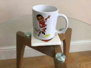 Arsenal Greats Mug with One Coaster made from Italian Carrara Marble