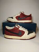 Rare Nike SB Dunk Low Floral Maroon Hibiscus Flower Women's Size 10, Men's 8.5