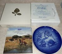 Bing & Grondahl 1989 MOTHERS DAY PLATE Mother Cow with Calf  Mors Dag Porcelain