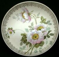 Antique O. & E.G.Royal Austria Hand Painted Cabinet Plate Wild Roses Signed