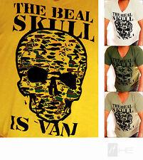 Figurbetonte Herren-T-Shirts aus Baumwolle mit V-Ausschnitt ohne Mehrstückpackung